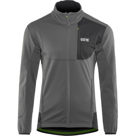 GORE WEAR C5 Gore Windstopper Thermo Trail Jacket Herre terra grey/black